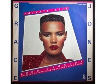 Glittered Grace Jones Private Life Album