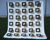 Brown Frames - Queen Size Quilt