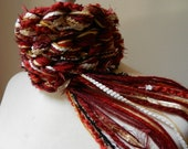University Crochet Pippy Scarf, Garnet and Gold