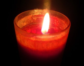 Photography Print Glowing Hearts Candle