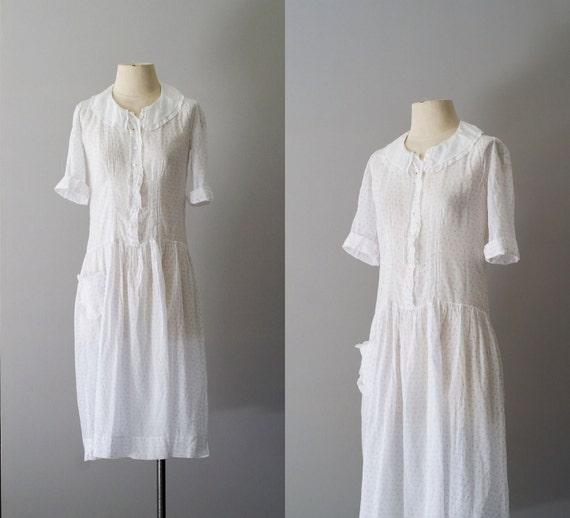1920s dress / 20s cotton day dress / Soft and Sweet dress