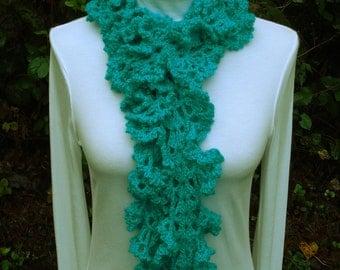 Ruffled Lace Scarf - PA-132 - Crochet Pattern PDF