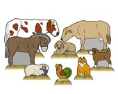 The Stable Animals Creche - Digital PDF Download - Paper Cut-Out DIY Craft Kit - No Shipping Required