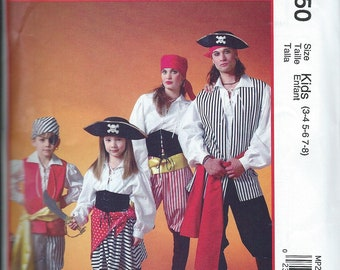 NEW McCall's Costumes Pattern MP 250 Size KIDS 3-4-5-6-7-8 'Pirates'