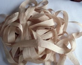 Pure Silk Ribbon 13mm 1/2 inch wide 5  yds  Champagne Color