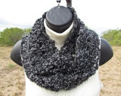 Charcoal Infinity Scarf - Washable and Dryable - Ready to Ship by Next Buisiness Day