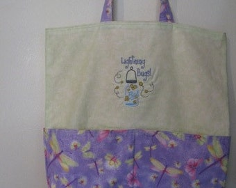 Lightening Bug Firefly Eco Friendly Purse Tote Bag Grocery Bag