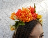 Frida  Styled Sunflower Floral Crown Headband