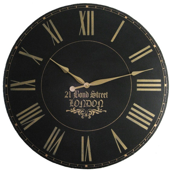 London Town 36 Inch Large Wall Clock Personalized By Klocktime