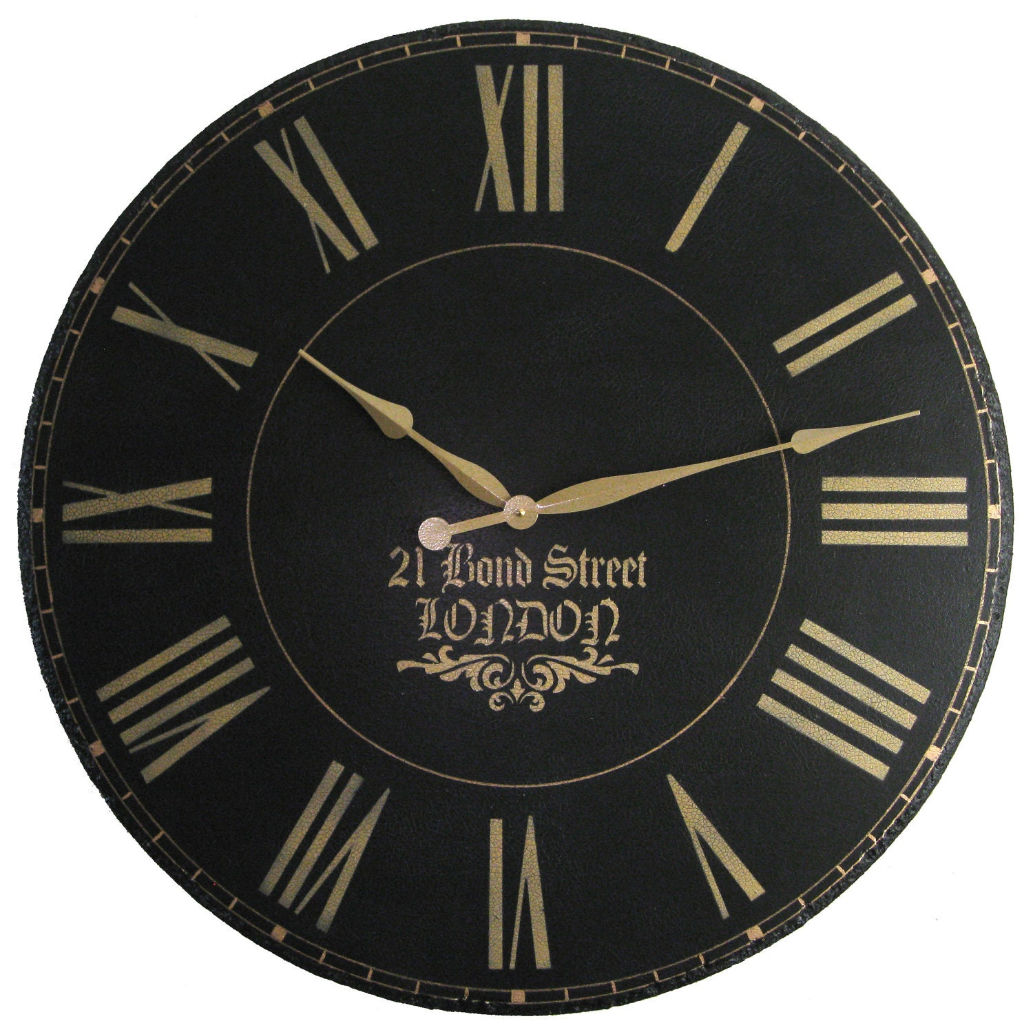 london town 36 inch large wall clock personalized by klocktime. Black Bedroom Furniture Sets. Home Design Ideas