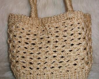 Boho, Hippie, Sisal Rope, bag, handbag, purse, Small tote.