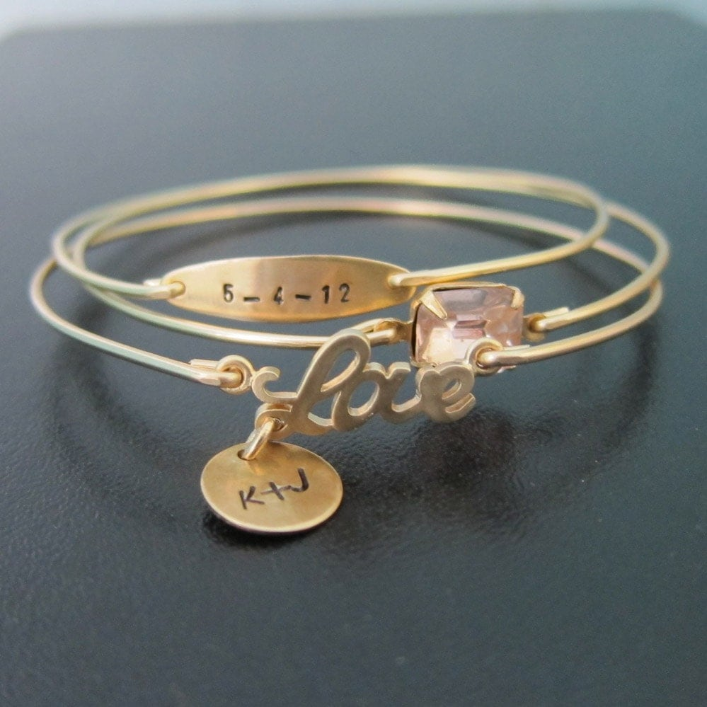 Personalized Wedding Jewelry, Personalized Anniversary Gift for Her ...
