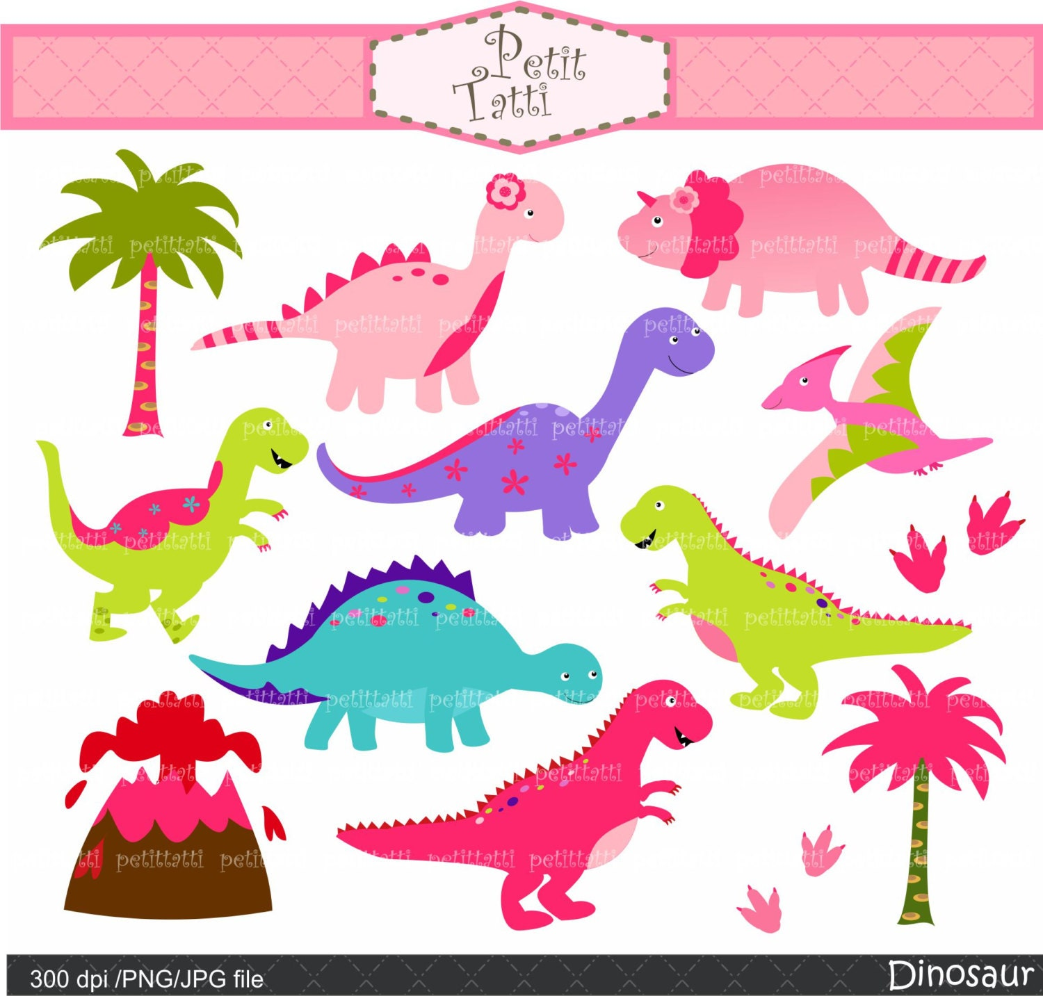 free girl dinosaur clipart - photo #18