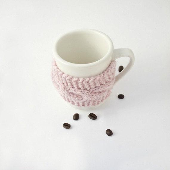 Coffee tea cup cozy mug cozy pink Christmas