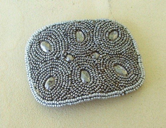 Cut Steel Bead Shoe Clip Buckle French Finding Appliques Rare Sewing Jewelry Supply Assemblage