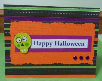 Happy Skeleton Halloween Greeting Card