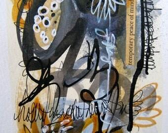 Modern Home Decor Original Expressionist Art Painting Fine art abstract