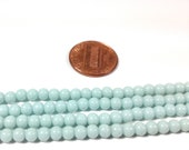 Vintage Japanese - Lucite Beads Light Blue Round 4mm - MI507