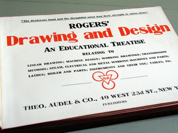 vintage book Mechanical Drawing and Design