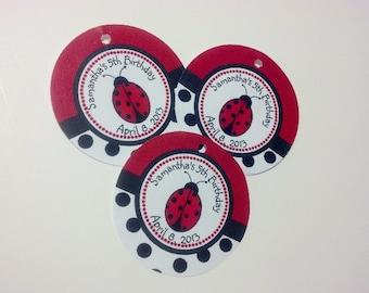 20 Ladybug Hang Tags