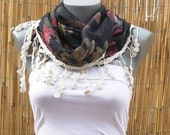 two sided scarf %100 cotton