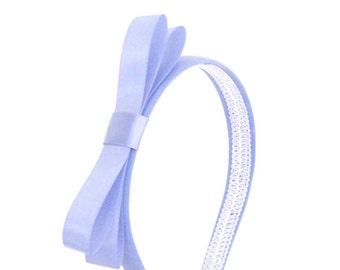 Periwinkle Bow Headband - Blair Waldorf Gossip Girl Style Bow Headband - Adult Bow Headband, Girls Bow Headband