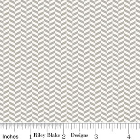 Tiny Herringbone in White from Willow by Riley Blake Designers - Fat Quarter