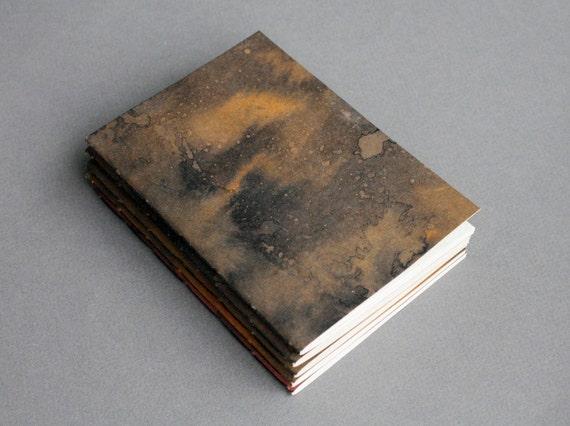 Notebook with ink dyed cover