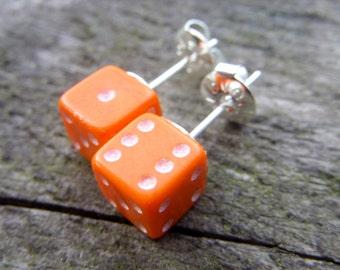 tiny dice post earrings