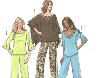 Butterick Pattern B4748 Top and Pants sz 8 10 12 14 2006