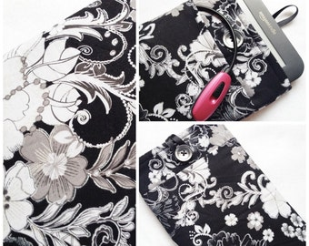 Fancy Black Floral Kindle Cover
