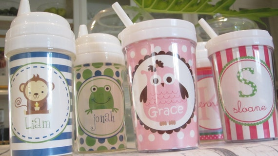 Personalized Children's Sippy Cups--Use any Simply Stella Design