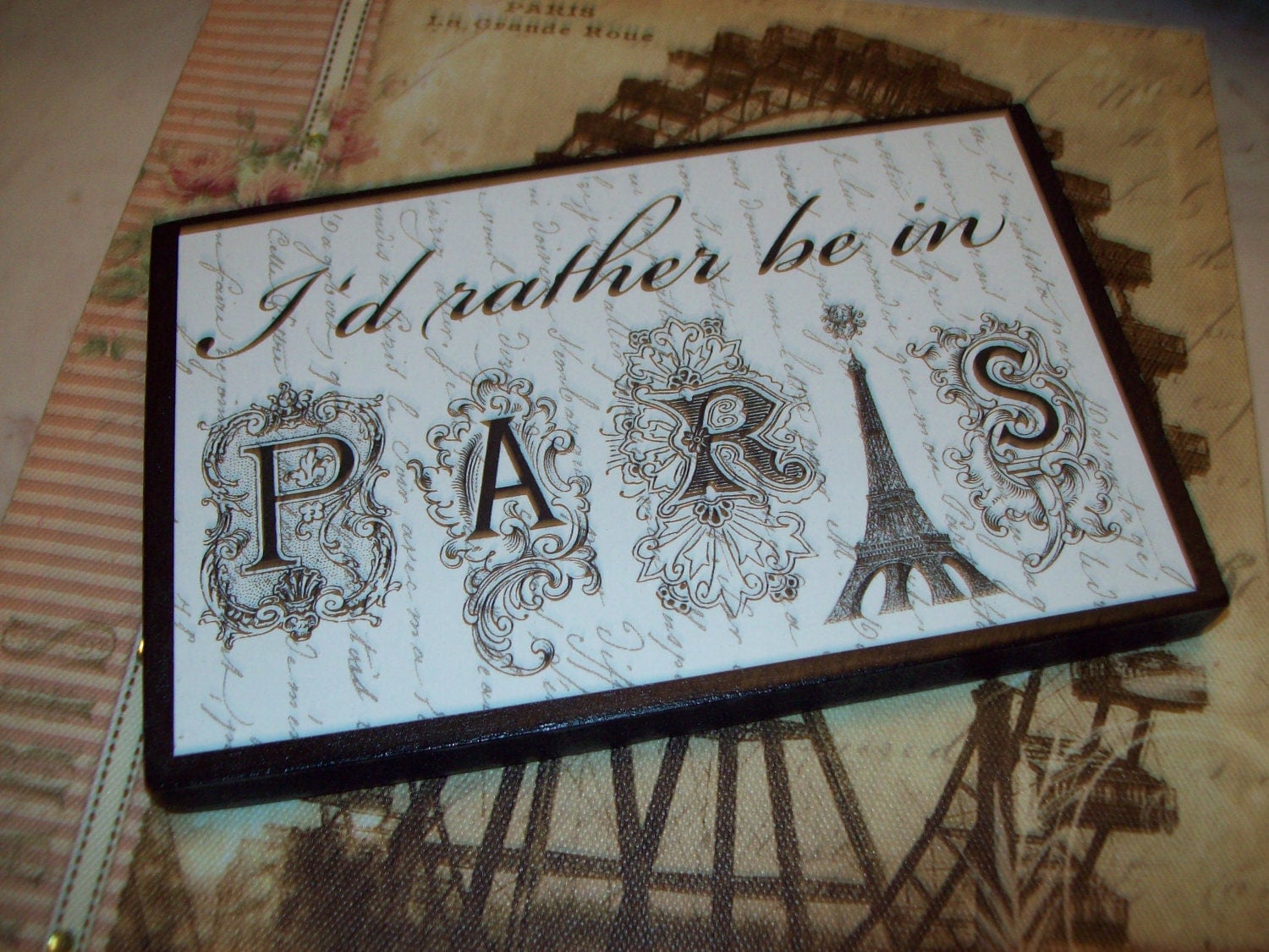 id rather be in paris shelf sitter signpars decorparis theme - Shop Bedroom Decor