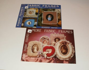 Fabric Frames and More Fabric Frames - Cool Retro 1980s How to do it Books - Pictures Photos Frames