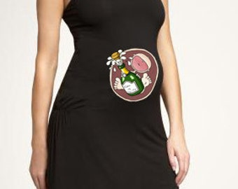 New Year's Eve Baby in Belly. DIY. Make Your Own. Apply To Any Shirt. Instant Download. Digital File.