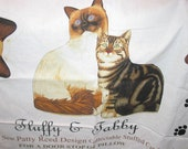 Fluffy and Tabby Stuffed Cats Panel