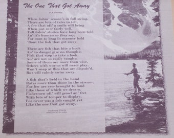 Fisherman's Poem / The One That Got Away for Framing / 1961