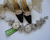 Vintage Watches Future Heirloom Bracelets With Lucky Sixpence Handmade By Recycloanalyst