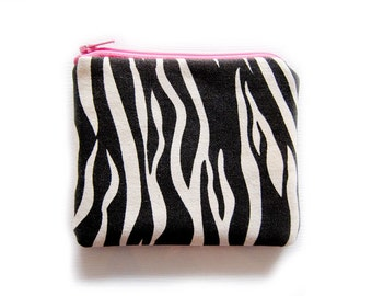 Zipper Pouch - Zebra Animal Print - Available in Small / Large / Long