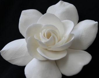 Ivory Gardenia bridal hair flower, Wedding Headpiece, Bridal Hair Flowers, Hair clips, Bridal Fascinator