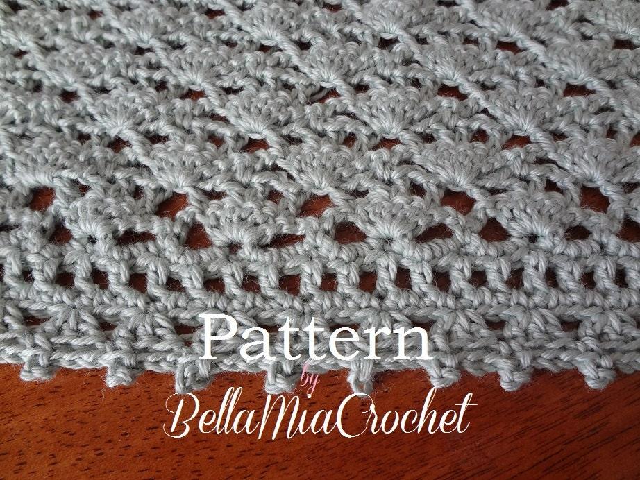 Crochet Pattern Baby Blanket // Autumn Lace