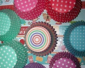 Cupcake Liners Red, Aqua, Purple, Pink, Teal,Rainbow You Pick All Your Colors 4 Dozen(48)