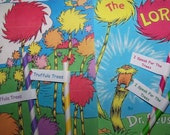"Paper Straws 15 Straws U-Pick Your Colors Dr Seuss Lorax Party Truffula Trees ""Free Straw Flag Toppers With Custom Wording"""