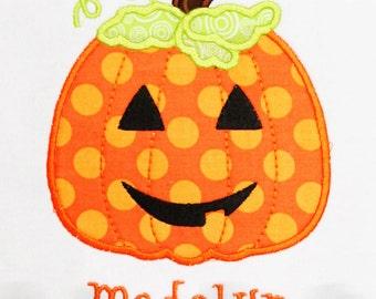 Halloween Shirt, Personalized Jack o Lantern Shirt, Halloween Pumpkin Shirt, Girls Halloween Shirt, Boys Halloween Shirt, Jack O Lantern