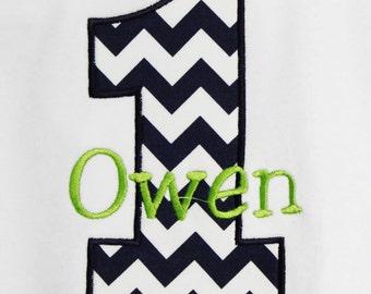 Boys Birthday Shirt, Personalized Birthday Boy Shirt, Number, Monogrammed, Appliqued, Custom Fabric Choices and Colors, Boys Birthday Shirt