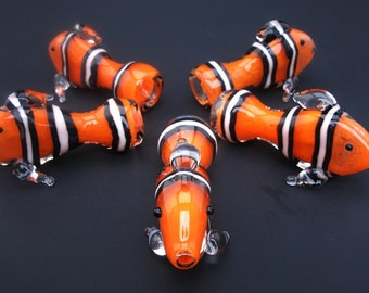 Clown Fish Chillum Glass Pipe