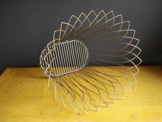 SALE - Classy Brassy Trashy - Vintage Brass Wastepaper Basket