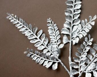 Silver Fern Glitter Stem