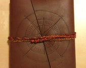 Leather compass book