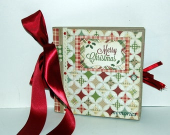 Merry Christmas -  Paper Bag Album - Scrapbook -  Journal